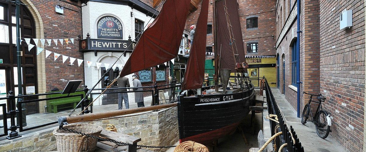 Our lovely main atrium and the 1914 sailing smack, PERSEVERANCE