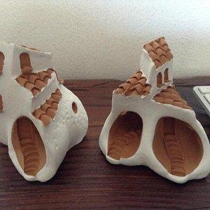 ceramic houses from Sardinia