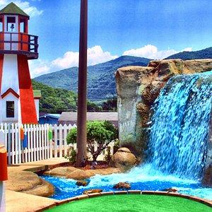 Beautiful miniature golf course