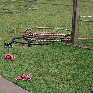 Children's playspace debris
