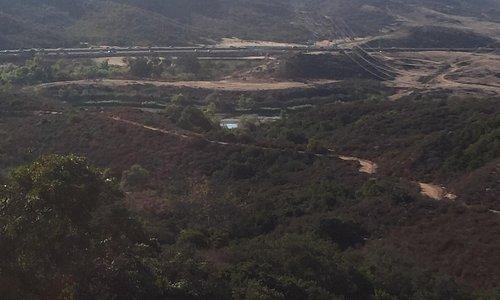 View of toll road, Laguna canyon and Barbara's lake
