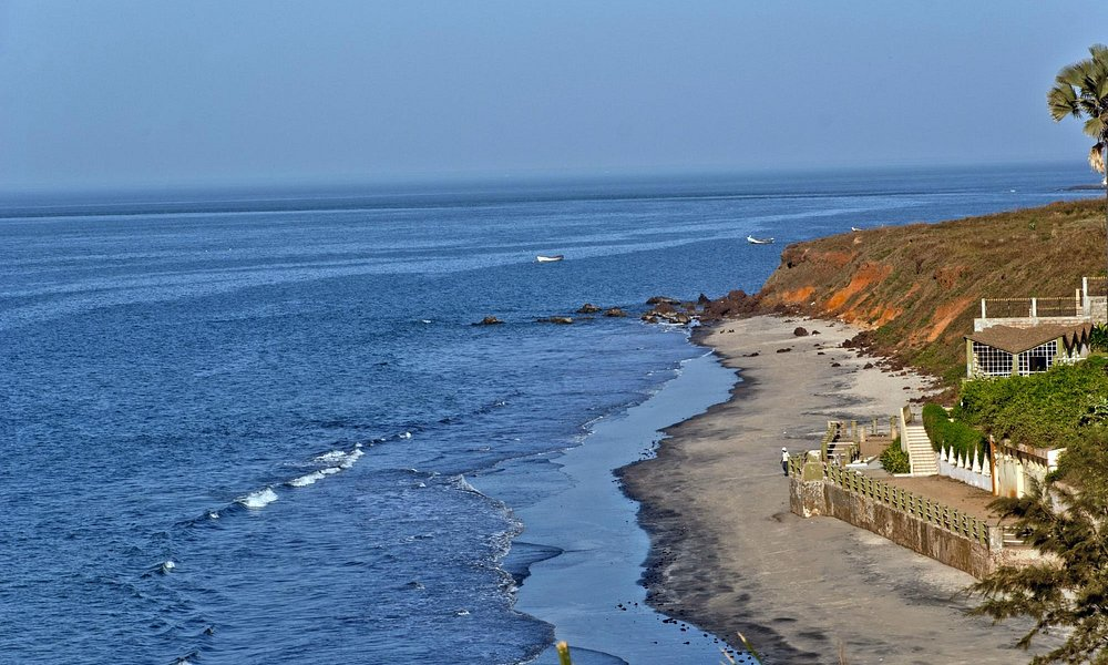 Maravillosa vista desde la parte alta de la costa