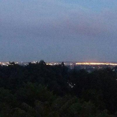 멀리보이는 맨하탄 야경