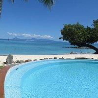 piscine et plage de l'hotel