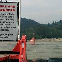 George Black ferry crossing the Yukon River to West Dawson