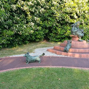 Statue of Queen and Dogs at Bachelor's Acre