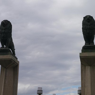 The Lion pillars