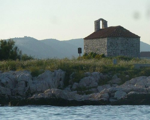 Church on San Marino Island, a view from behind (photo taken from the pedal boat)