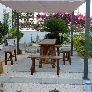 panche giardino relax