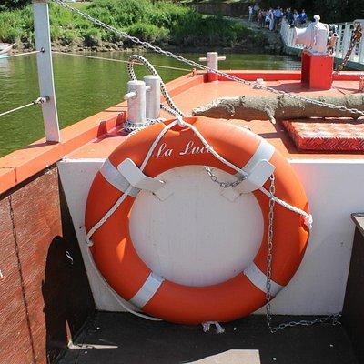 Vue depuis le bateau à quai