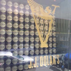 The window out front of JJ Dolans