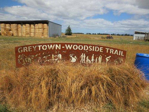 Greytown-Woodside half-way point sign