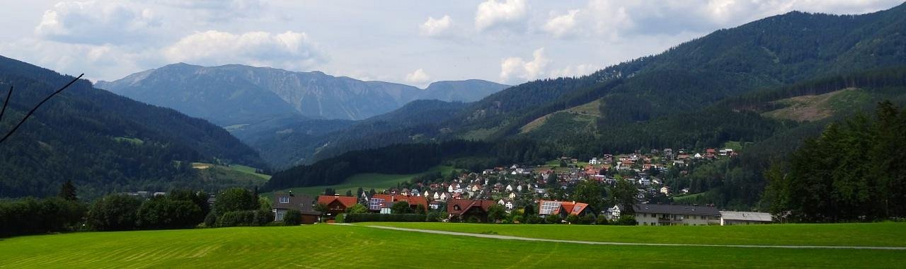 Panorama showing Murzzuschlag and surrounding mountains, Styrian Alps