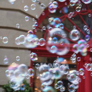 Bubbles in downtown Calgary!