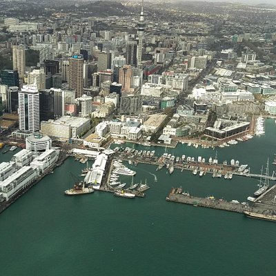 Auckland City from Helicopter me