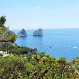 vue de l'île de Capri