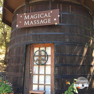 Massage in a Wine Barrel