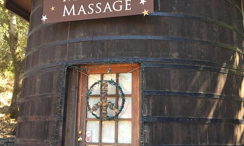 Massage in a Wine Barrel
