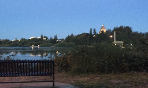 The lake and Capitol at Sunset.