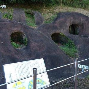保全されている横穴墓