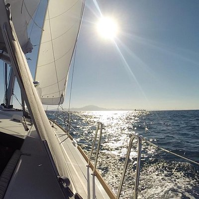 Beautiful day sailing in the bay and wonderful views of Gibraltar