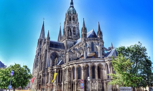 The cathedral is a major draw for visitors in Bayeux.