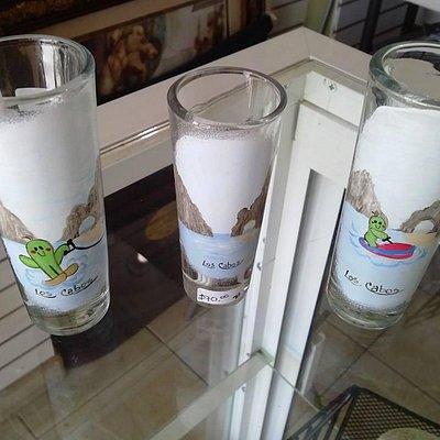 handpainted tequila shots