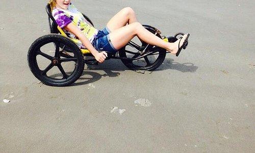 Riding a fun cycle from wheel fun rentals