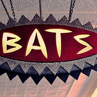 The iconic BATS strreet sign