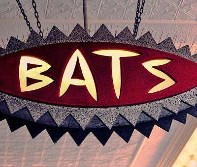 The iconic BATS strreet sign