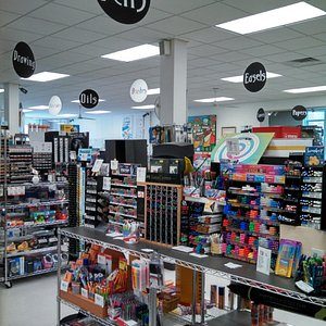 Inside the art store--just one area!