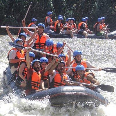 Rafting en el Segura - Salto de agua