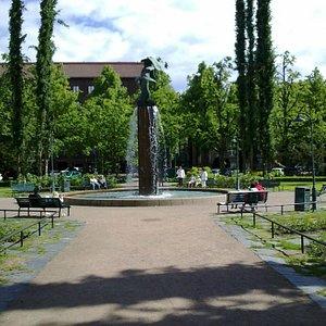 Kotkat sculpture in Sibelius Park