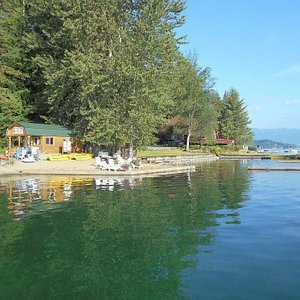 Public boat ramp and boat rental office