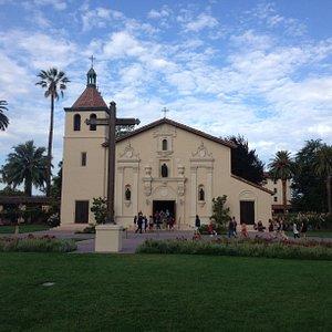 Beautiful mission church at Santa Clara University