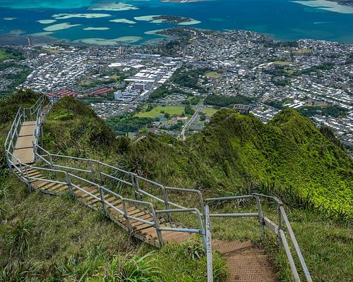The Haiku Stairs from the Top of the CCL Building