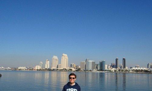 vista do centro de San Diego a partir do Glorietta Bay Park