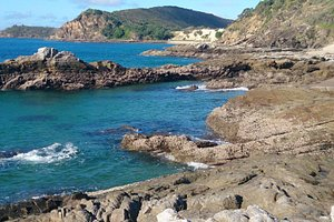 Three Little Beaches with Butterfish Bay just over the hill.