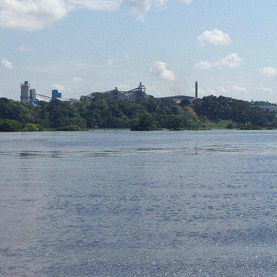 percurso no rio Negro.