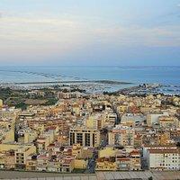 Vistas de Sant Carles de la Ràpita desde el mirador