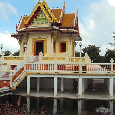 Temple at main entrance to park