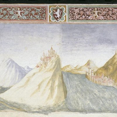Paesaggio di Veszprèm di Masolino da Panicale e Lorenzo di Pietro detto il Vecchietta (1435)