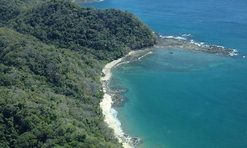 Nicoya Peninsula Coastline from hopflight