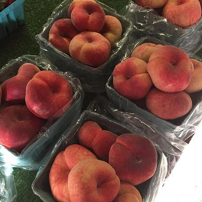 Donut peaches for sale at Joseph's