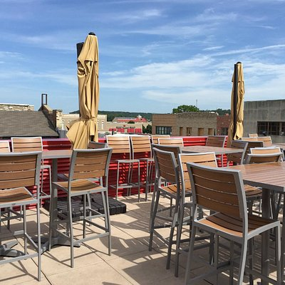 Rooftop patio/bar