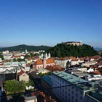Aerial view of Ljubljana