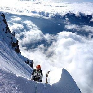 Avant d'arriver à l'Aiguille Verte, 4122 m