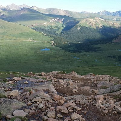 View from the trail up Mt. Bierstadt