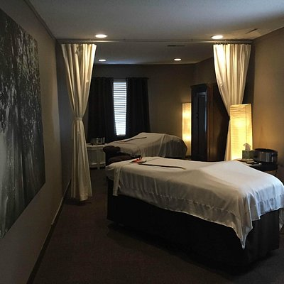 Experience ultimate relaxation with a loved one in our couples room
