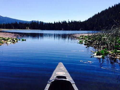 Beautiful day canoeing Hosmer Lake 7/23/15